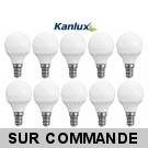 Pack de 10 Ampoules LED Culot E14 5,0W 3000K Blanc Chaud Marque KANLUX