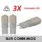 Lot de 3 Ampoules led G9 2 watt (eq. 20watt) 2700K Blanc Chaud Compatible Variateurs