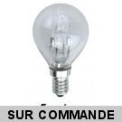 Ampoule halogene éco-classic sphérique 60W (42W) petite culot à vis e14, 220-240V