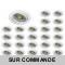 LOT DE 25 SPOT LED RONDE BLANC 230V COB LED 5W RENDU 50W BLANC NEUTRE