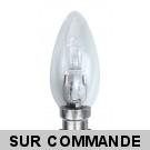 Ampoule Flamme halogène 60W (42W) 220-240V Culot B22 220-240V