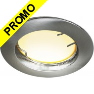 Spot Led Encastrable Fixe Ronde Alu brossé eq. 40W