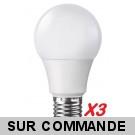 Pack de 3 Ampoules LED Standard E27 Grande Vis 7W  (eq. 40 watt) 4000K Blanc Neutre