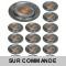 LOT DE 15 SPOT LED FIXE COMPLETE ALU BROSSE AVEC COB LED 5W