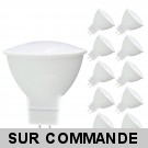 Lot de 10 Ampoules LED SMD Blanc Chaud GU5.3 12V AC 5W 400 Lumens 120°