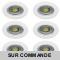 LOT DE 6 SPOT ENCASTRABLE FIXE LED 230V BLANC AVEC AMPOULE GU10 38° 5W eq.ENV 50W