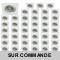 LOT DE 50 SPOT LED CARRE BLANC 230V 5W 38° RENDU eq. ENV 50W BLANC NEUTRE