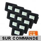 Lot de 10 LED Projecteur Lampe 10W Noir 6000K IP65 Extra Plat