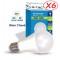 Lot de 6 Ampoules LED V-TAC Culot E27 10W (éq. 60W) 806lm angle 200° lumière blanc chaud 2700K