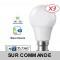Lot de 3 Ampoules LED V-TAC Culot B22 10W (éq. 60W) 806lm angle 200° lumière blanc neutre 4500K