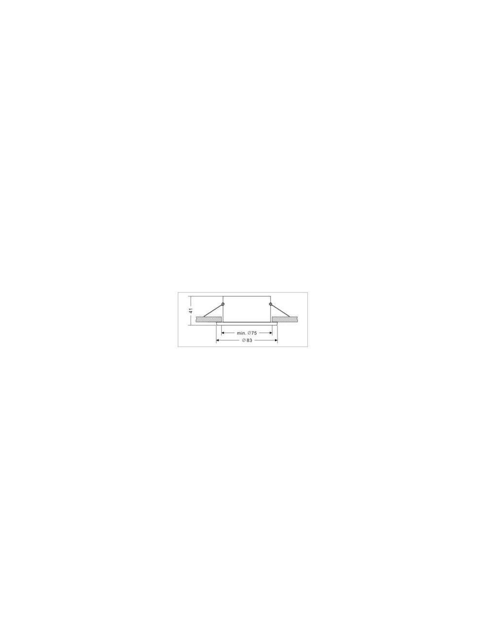 FIXATION SPOT SALLE DE BAIN ETANCHE NICKEL SATINE POUR AMPOULE GU5.3 12V HALOGENE OU LED IP65