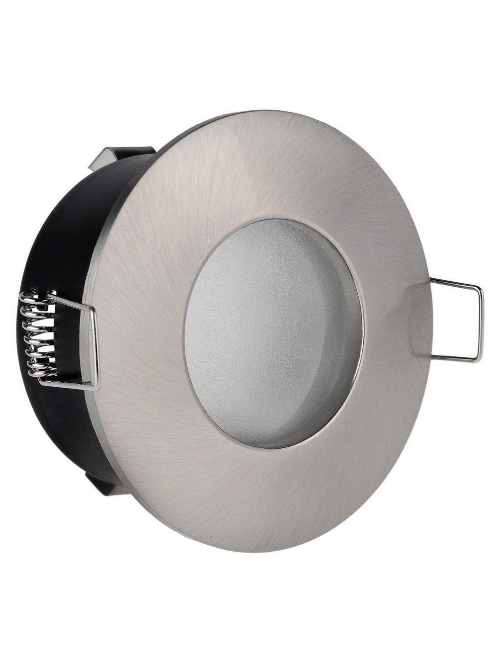 Fixation Spot Salle De Bain Etanche Chrome Pour Ampoule Halogene