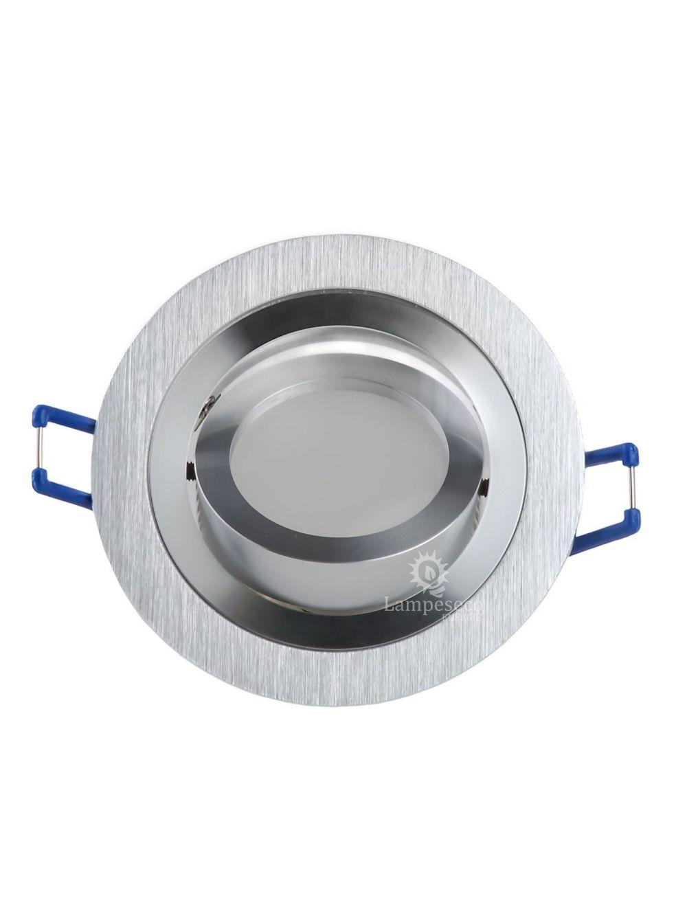 CFL ou Lot de 10 Support encastrable orientable ronde pour ampoules halogènes